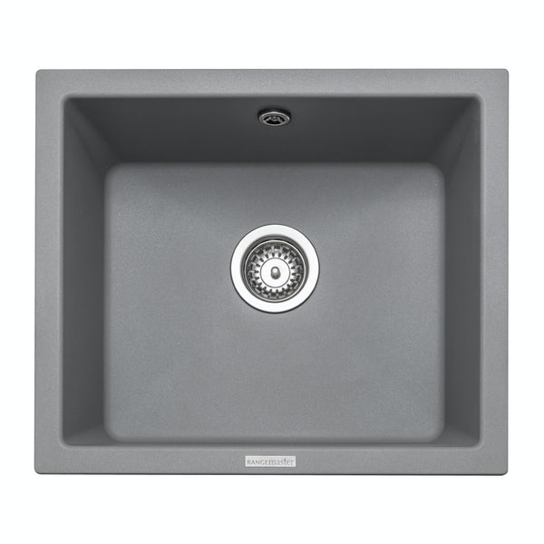 Rangemaster Paragon 1.0 bowl undermount croma grey black kitchen sink