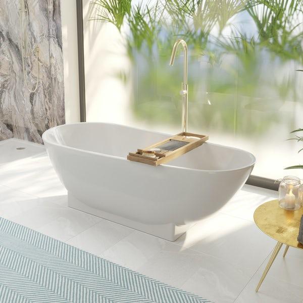 Mode Spencer gold freestanding bath filler tap