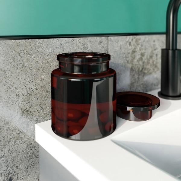 Accents vintage glass cotton jar