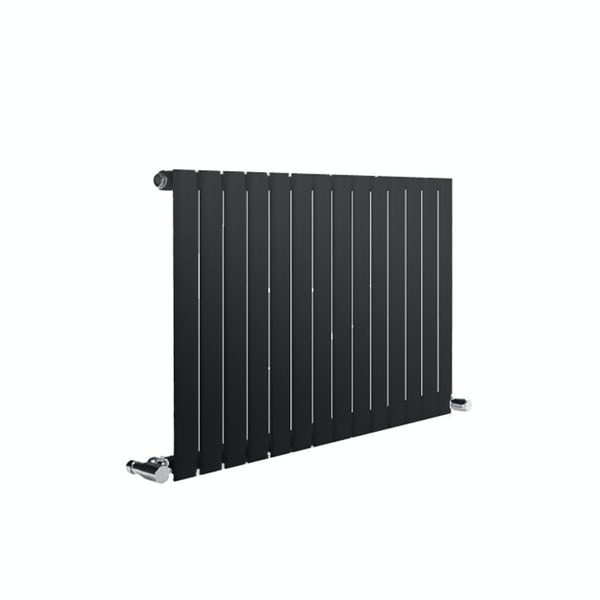 Reina Neva anthracite grey single horizontal steel designer radiator