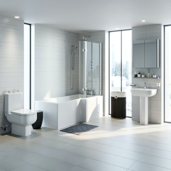 RAK Series 600 and Mode complete right handed shower bath suite