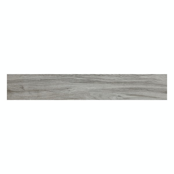 Hardwick grey wood effect matt wall and floor tile 150mm x 900mm
