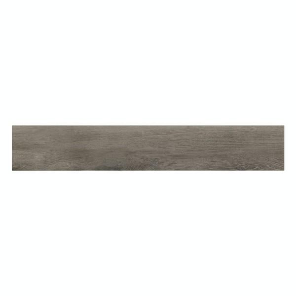 Kingston multi grey wood effect matt wall and floor tile 200mm x 1200mm