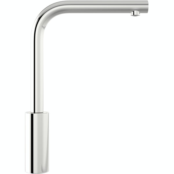 Schon Firth L shaped chrome single lever kitchen mixer tap