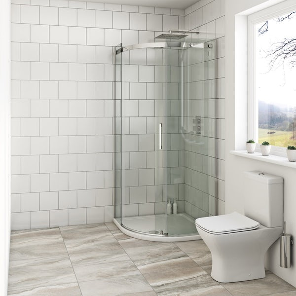 Mode Harrison 8mm easy clean quadrant shower enclosure offer pack