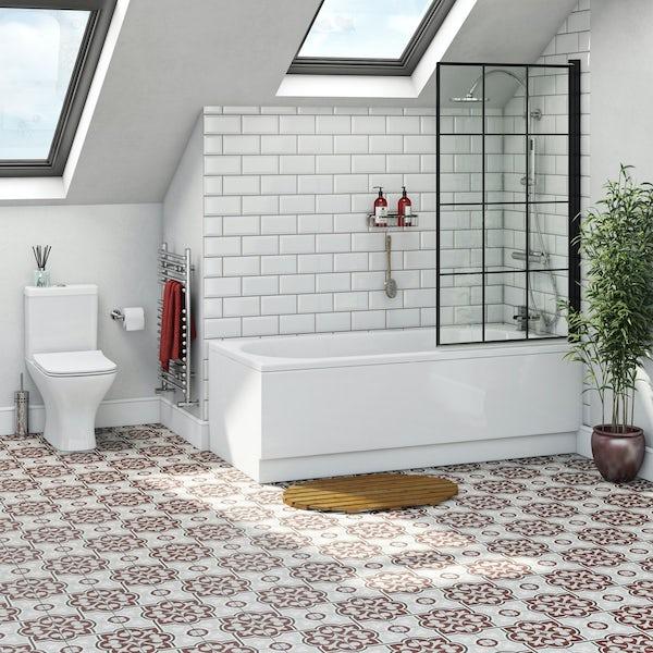 Shower Bath With 8mm Black Framed