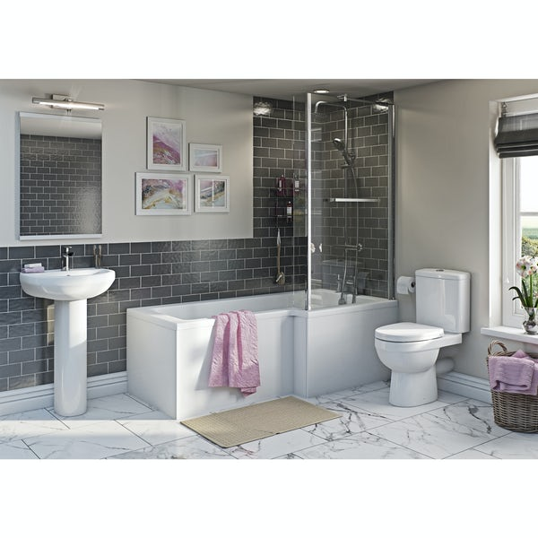 Orchard Eden Bathroom Suite With Right Handed L Shaped