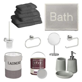 Bathroom refresh box in grey