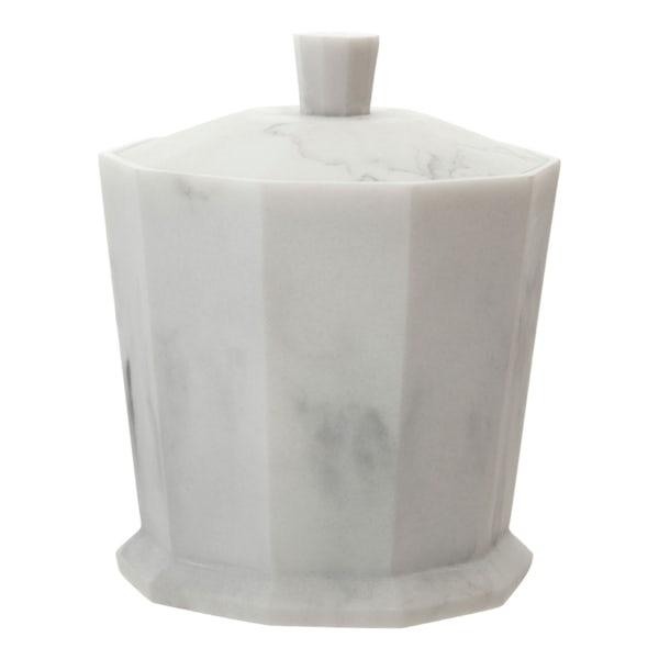 Accents Riviera geometric white marble effect storage jar