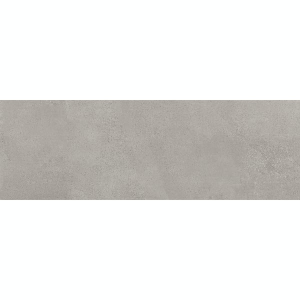 Chard concrete grey flat stone effect matt wall tile 250mm x 750mm