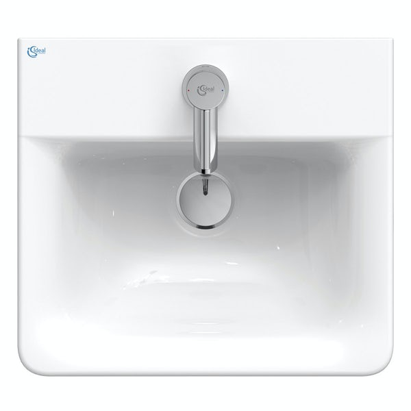 Ideal Standard Concept Cube 1 tap hole wall hung bathroom basin 400mm