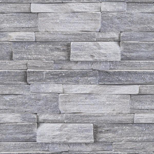 Graham & Brown Superfresco easy grey stone wall wallpaper