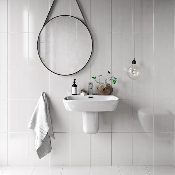 British Ceramic Tile Linear white gloss tile 248mm x 398mm