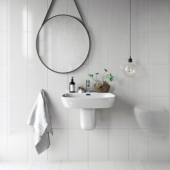 British Ceramic Tile Linear white gloss tile 248mm x 398mm