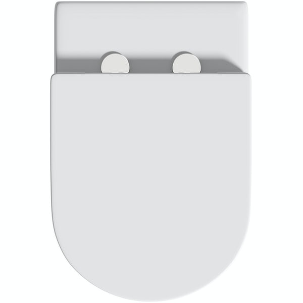 Orchard Contemporary raised height back to wall toilet and soft close seat