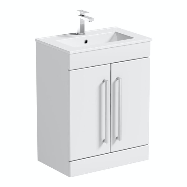 Derwent vanity door unit and basin 600mm
