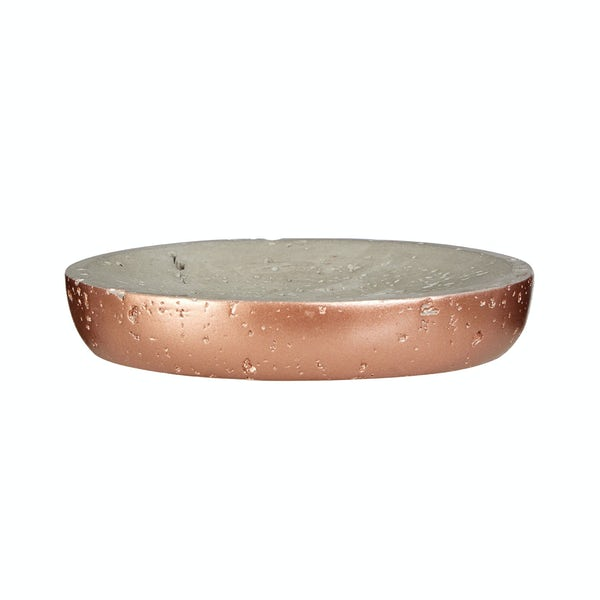 Neptune concrete and copper soap dish