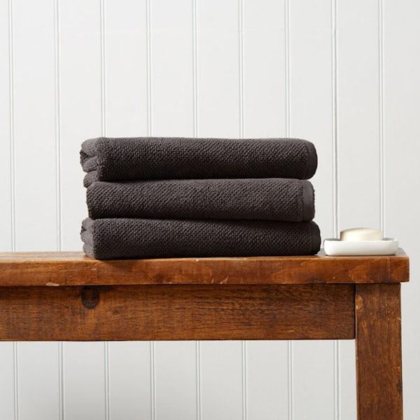 Christy Brixton liquorice bath towel