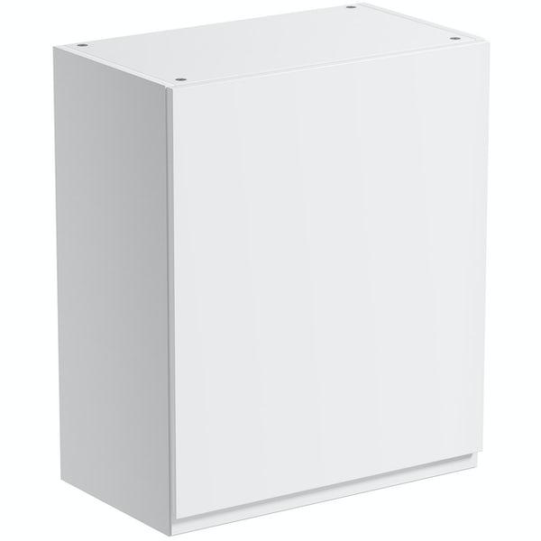 Schon Chicago white slab wall unit