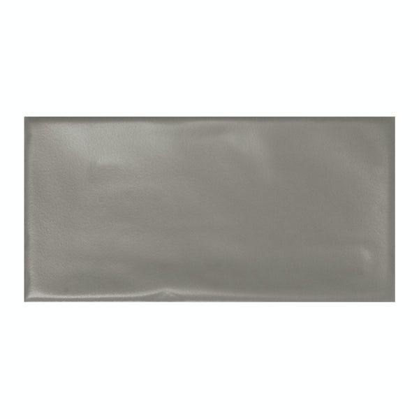 Annecy dark grey matt wall tile 75mm x 150mm