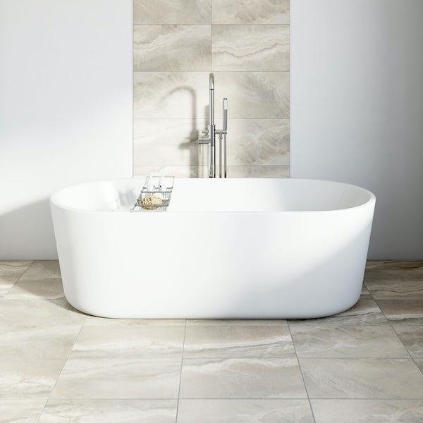 British Ceramic Tile Stone mist matt tile 298mm x 498mm