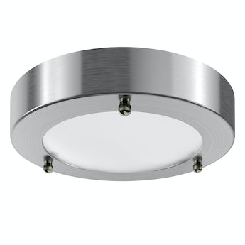 Forum Llum brushed small round flush bathroom ceiling light