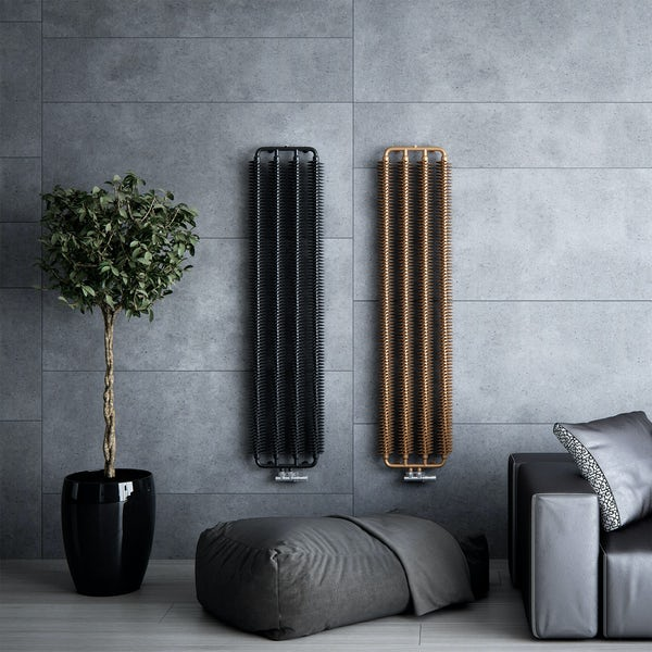 Terma Ribbon V bright copper designer radiator 1720 x 290