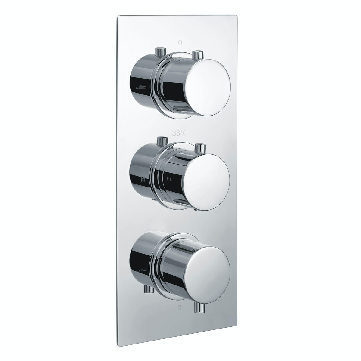 Kirke Curve triple thermostatic shower valve
