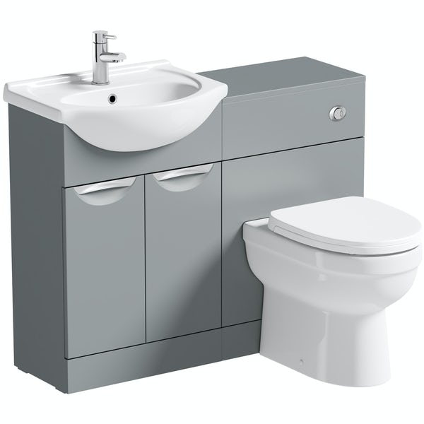 Orchard Elsdon stone grey 1060mm combination with Eden back to wall toilet and soft close seat