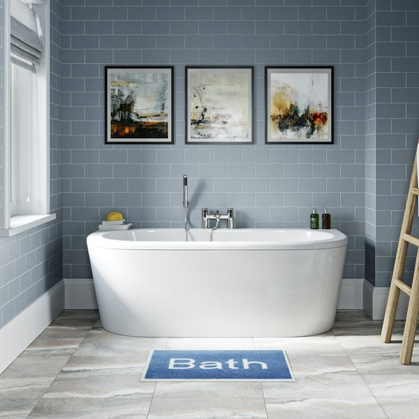Orchard Elsdon D shaped double ended bath 1700 x 750