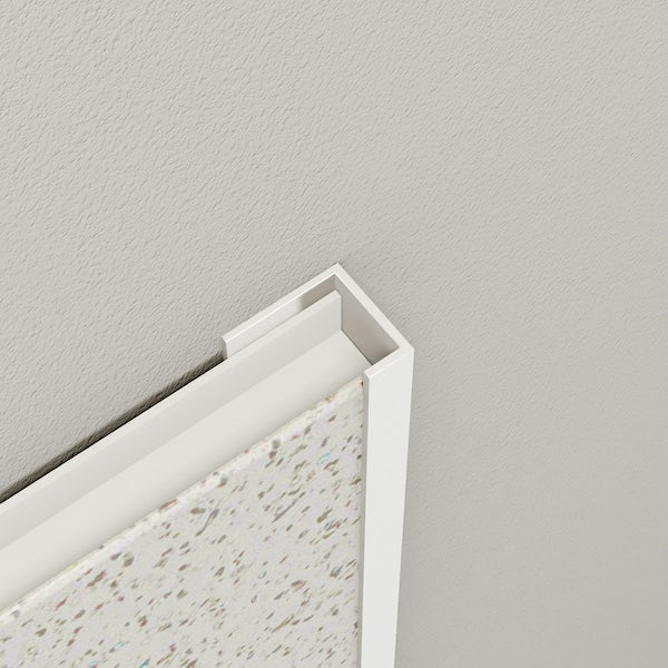 Multipanel Economy type U white end cap profile