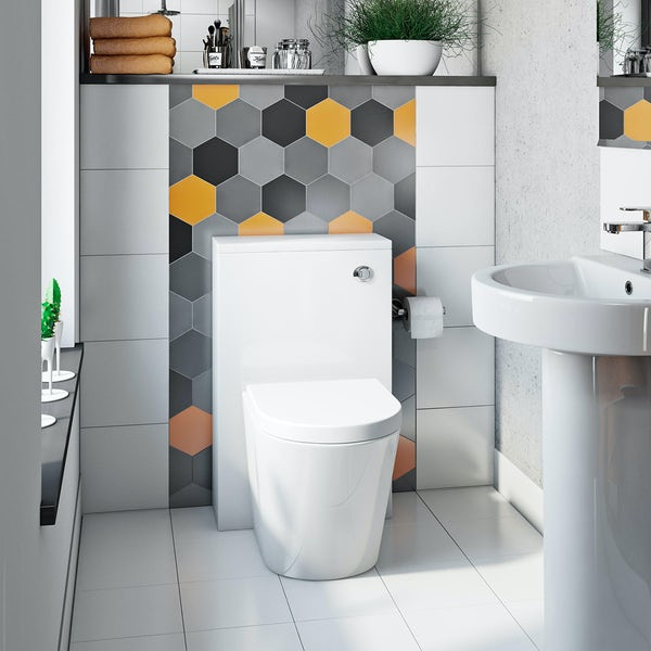 Orchard contemporary back to wall toilet with soft close seat