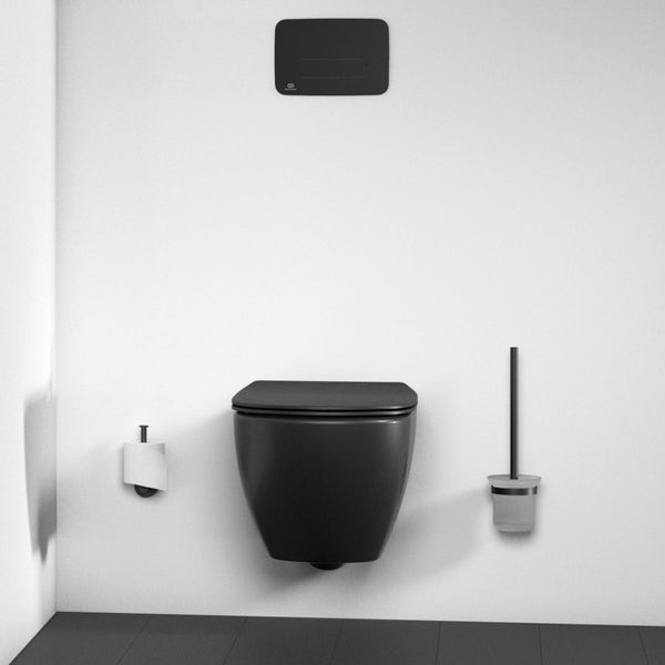 Ideal Standard IOM silk black toilet roll holder
