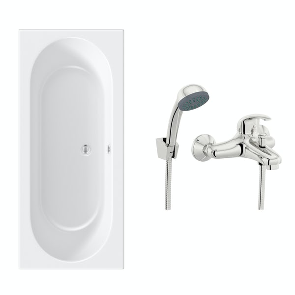Orchard round edge double ended bath 1700 x 700 with free tap