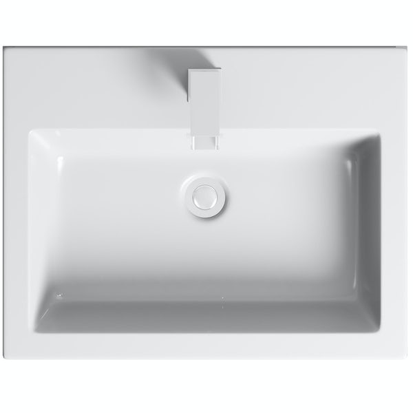 Mode Hardy slate matt grey floorstanding vanity unit and basin 600mm