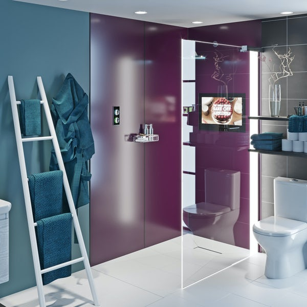 Showerwall Acrylic Wine shower wall panel