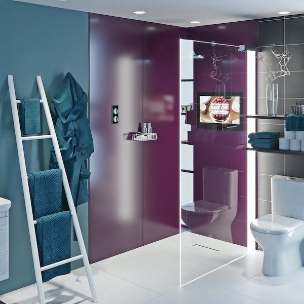 Showerwall Acrylic Wine shower wall panel