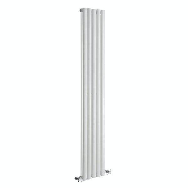 Reina Neva white double vertical steel designer radiator