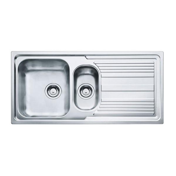 Tuscan Pienza polished 1.5 bowl universal kitchen sink