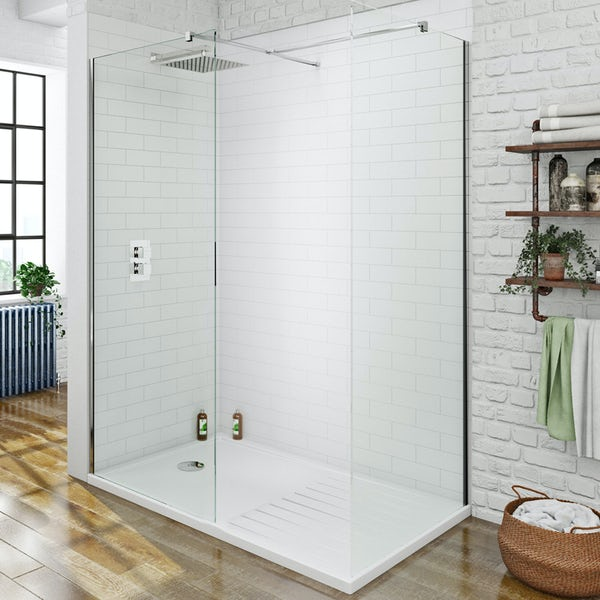 8mm Walk in Shower Enclosure Pack 1400 x 900