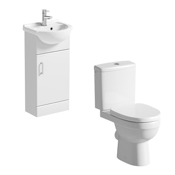 Orchard Eden cloakroom suite with close coupled toilet