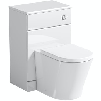 Orchard Eden white back to wall unit and contemporary toilet with soft close seat