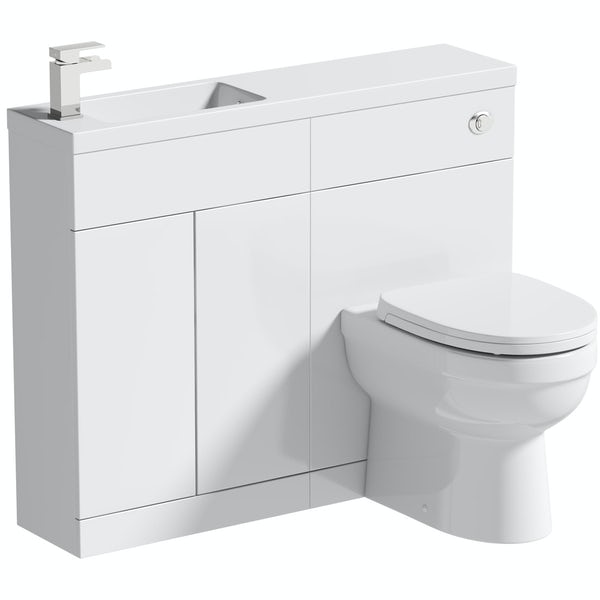 Orchard MySpace Slim white combination with Eden toilet and soft close seat