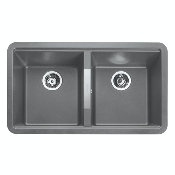 Rangemaster Paragon 2.0 bowl undermount croma grey black kitchen sink