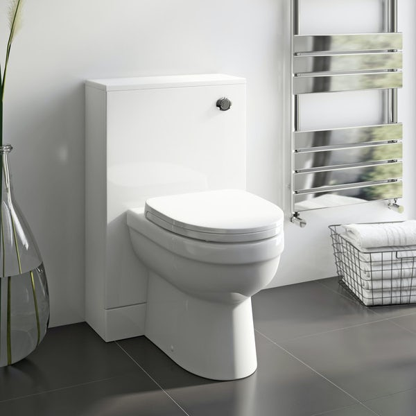 Orchard Thames back to wall toilet with soft close wrap over toilet seat