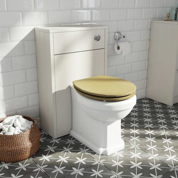 The Bath Co. Dulwich stone ivory slimline back to wall toilet unit