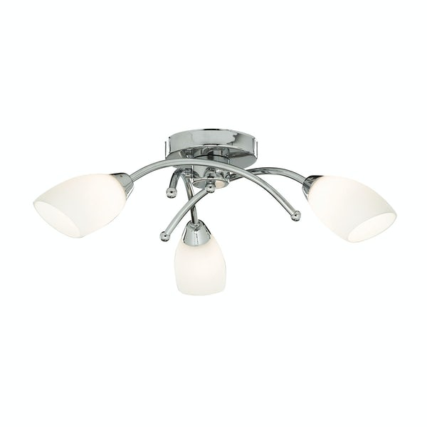 Searchlight Chrome 3 light bathroom ceiling light