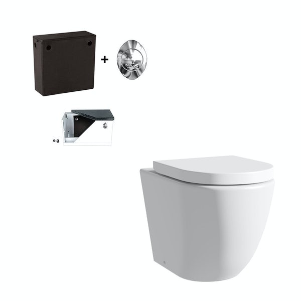 Harrison back to wall toilet with soft close seat and concealed cistern