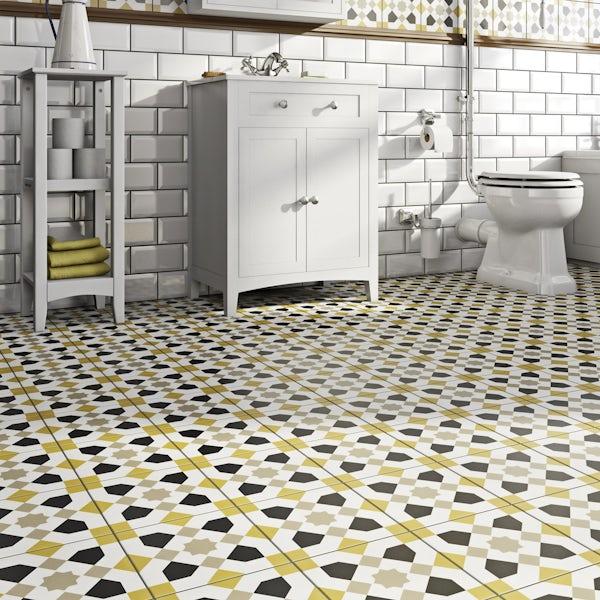 Valencia Ria traditional matt wall and floor tile 200mm x 200mm