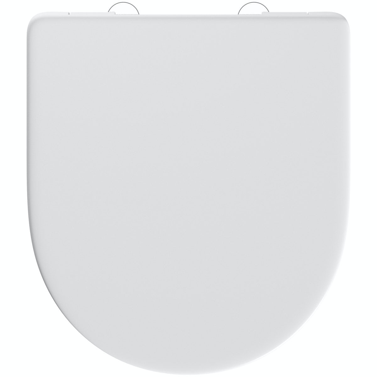 D shape thermoset top fix toilet seat with stainless steel soft close and lift off